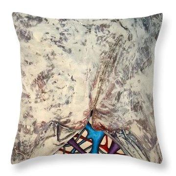 Internally Unzipped Throw Pillow by Nancy Mueller