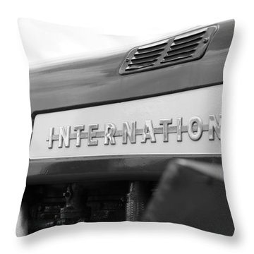 Throw Pillow featuring the photograph International 350 by Rick Morgan