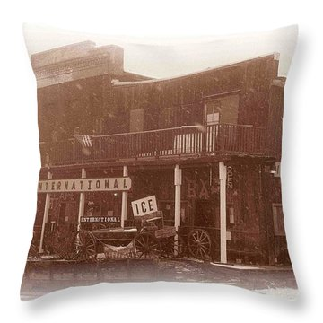 International Cafe Throw Pillow