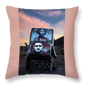 Throw Pillow featuring the photograph International Car Forest Of The Last Church 1 by James Sage