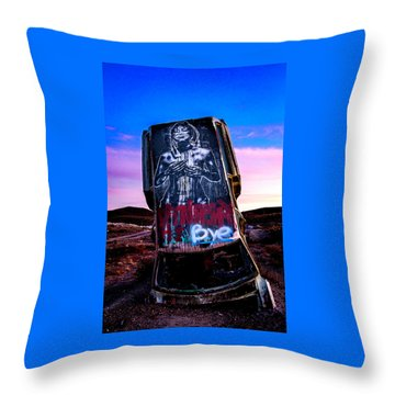 Throw Pillow featuring the photograph International Car Forest Of The Last Church 4 by James Sage