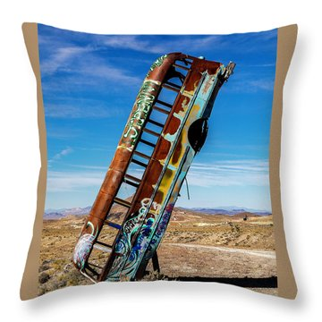 Throw Pillow featuring the photograph International Car Forest Of The Last Church by James Sage
