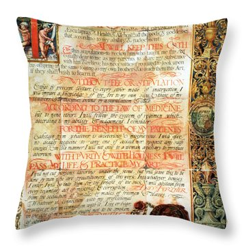 International Code Of Medical Ethics Throw Pillow