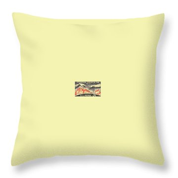 International Geophysical Year Stamp Throw Pillow