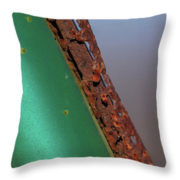 Throw Pillow featuring the photograph International Green by Susan Capuano