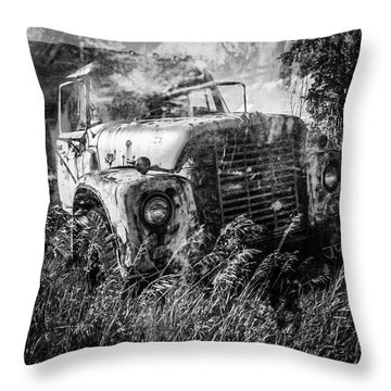 Throw Pillow featuring the photograph International Harvester by Jim Vance