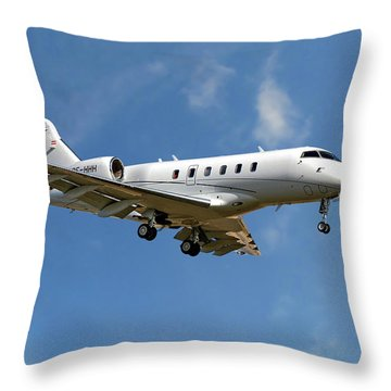 International Jet Management Throw Pillow