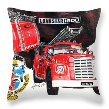 International Loadstar 1600 Fire Engine Throw Pillow