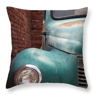 Throw Pillow featuring the photograph International Truck 1 by Heidi Hermes