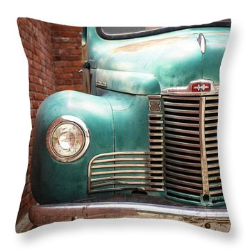Throw Pillow featuring the photograph International Truck 2 by Heidi Hermes