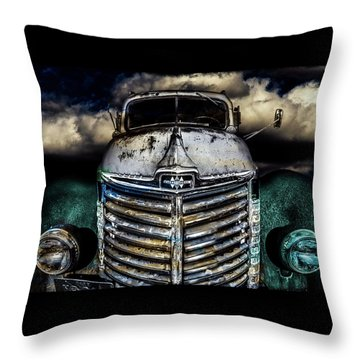 Throw Pillow featuring the photograph International Truck 6 by Michael Arend