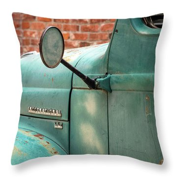 Throw Pillow featuring the photograph International Truck Side View by Heidi Hermes
