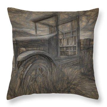 International Truck Skeleton Throw Pillow