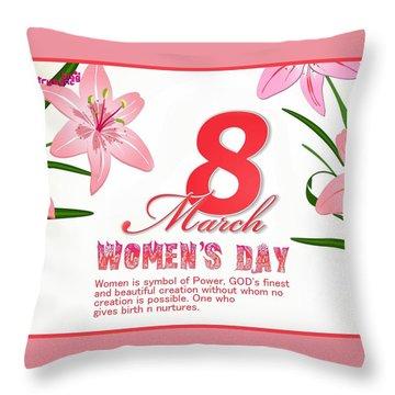 International Woman's Day Throw Pillow