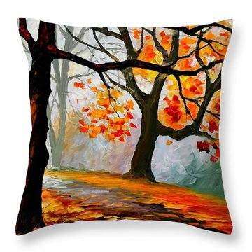 Decorative Pillow Placement : Interplacement Painting by Leonid Afremov