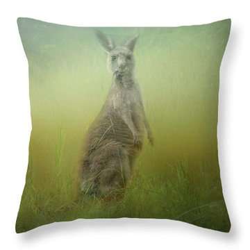Interrupted Meal Throw Pillow by Wallaroo Images