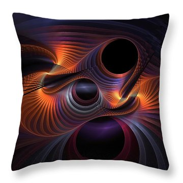Interrupted Rainbow Throw Pillow