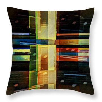 Throw Pillow featuring the digital art Intersecting Interlude 1 by Lon Chaffin