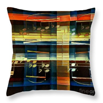 Throw Pillow featuring the digital art Intersecting Interlude 2 by Lon Chaffin