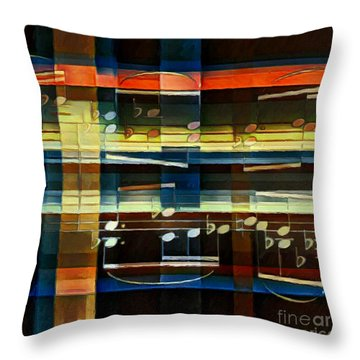 Throw Pillow featuring the digital art Intersecting Interlude 3 by Lon Chaffin