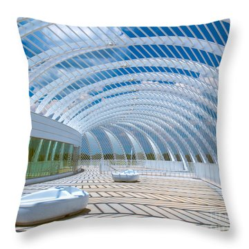 Intersecting Lines - Pastels Throw Pillow