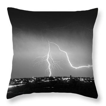 Intersection Black And White Throw Pillow by James BO  Insogna