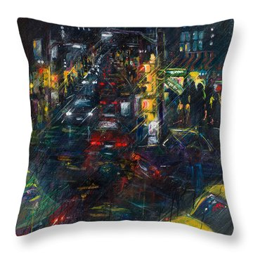 Intersection Throw Pillow by Leela Payne