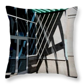 Intersections Throw Pillow by David S Reynolds