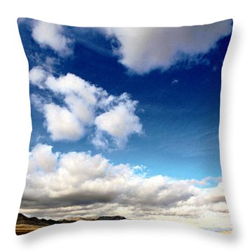The Big Valley Throw Pillow by Gilbert Artiaga