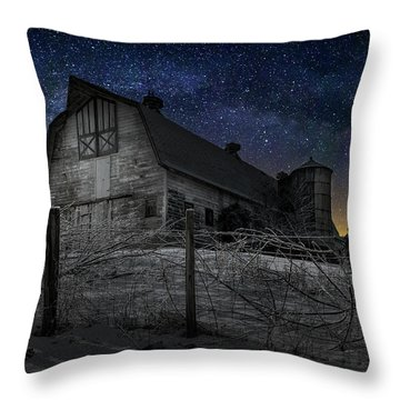 Throw Pillow featuring the photograph Interstellar Farm by Bill Wakeley