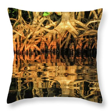 Throw Pillow featuring the photograph Intertwined by Louise Lindsay