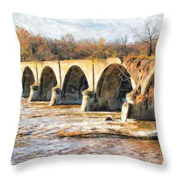 Interurban Bridge Throw Pillow
