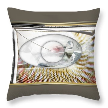 ' In The Blink Of A Eye ' Throw Pillow