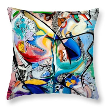 Intimate Glimpses - Journey Of Life Throw Pillow