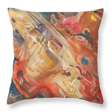 Intimate Guitar Throw Pillow