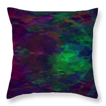 Into A Cave Of Dreams Throw Pillow by Mathilde Vhargon