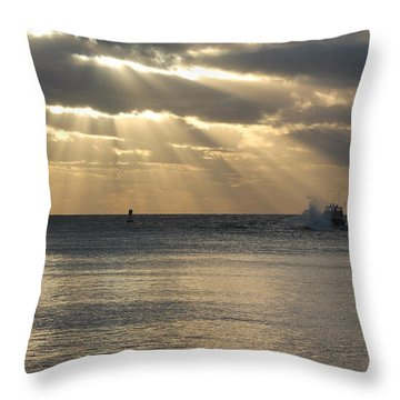 Into Dawn's Early Rays Throw Pillow