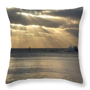 Into Dawn's Early Rays Throw Pillow by Robert Banach