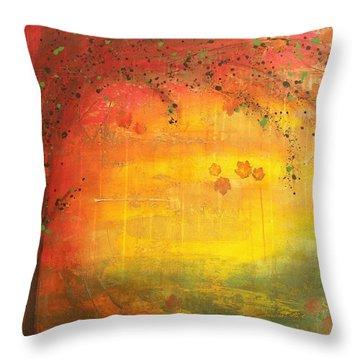 Into Fall - Tree Series Throw Pillow