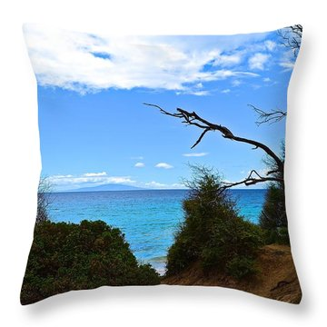 Into Little Beach Throw Pillow
