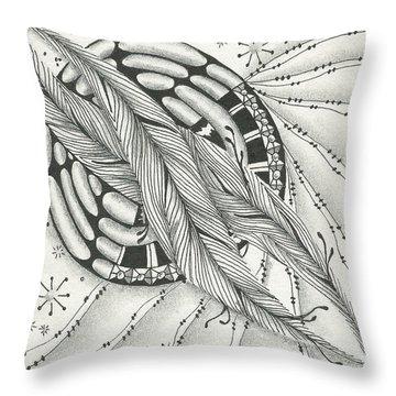 Into Orbit Throw Pillow by Jan Steinle