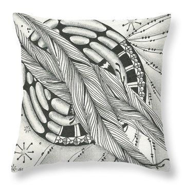 Into Orbit Throw Pillow