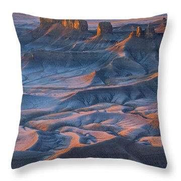 Throw Pillow featuring the photograph Into The Badlands by Dustin  LeFevre
