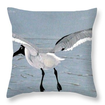 Into The Blue Throw Pillow by Anita Putman