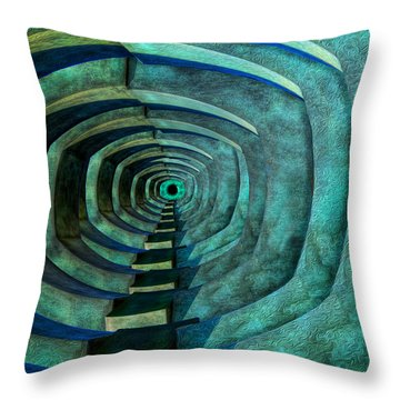 Throw Pillow featuring the photograph Into The Dark by Paul Wear