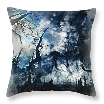 Into The Darkness - 01 Throw Pillow
