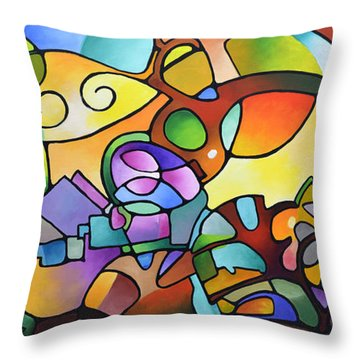 Into The Day Throw Pillow