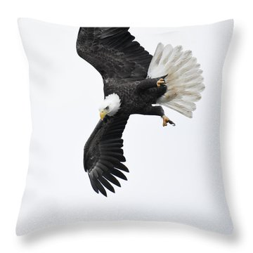 Into The Dive Throw Pillow