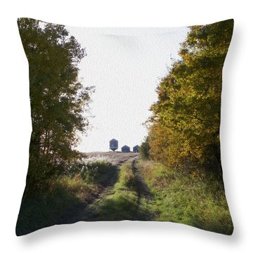 Into The Fields Throw Pillow