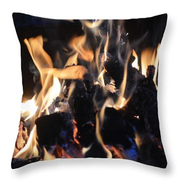 Into The Fire Throw Pillow